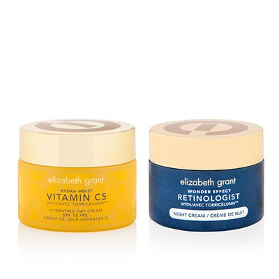 Elizabeth Grant Winter Radiance Skin Duo Hydra Moist Vitamin C5 SPF15 Hydrating Day Cream 50ml & Wonder Effect Night Cream 50ml