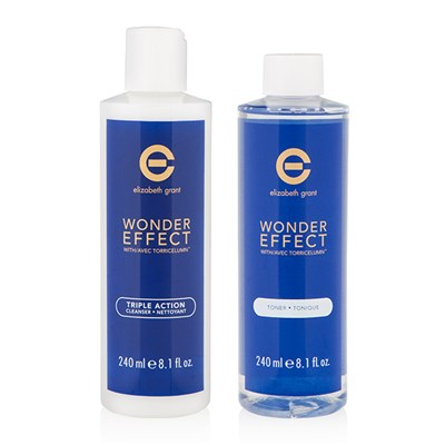 Elizabeth Grant Wonder Effect Triple Action Cleanser 240ml & Pore Refining Toner 240ml