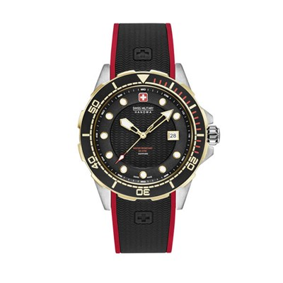 Swiss Military by Hanowa Gent's Neptune Diver Watch with Silicone Strap