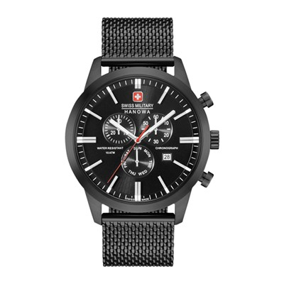 Swiss Military by Hanowa Gent's Black PVD Plated Chrono Classic watch with Milanese Strap