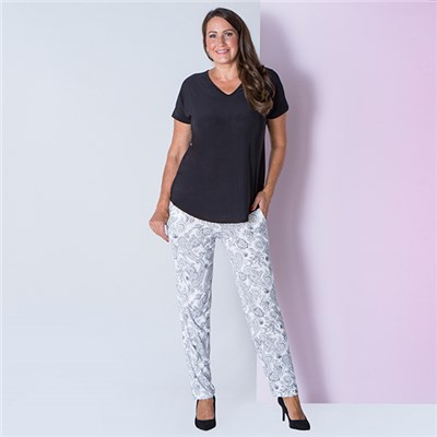 Nouvelle Soft Print Jersey Trouser with Pockets