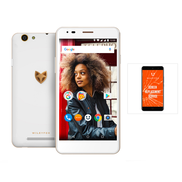 Wileyfox Spark X 4G 5.5inch Smartphone with 13MP Camera, 16GB Storage and Dual Sim plus One Year Screen Replacement Guarantee White