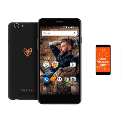 Wileyfox Spark X 4G 5.5inch Smartphone with 13MP Camera, 16GB Storage and Dual Sim plus One Year Screen Replacement Guarantee