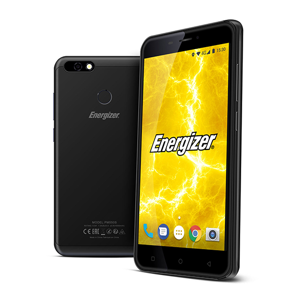 Energizer Powermax P550S 4G 5.5inch Smartphone with 13MP Camera, 16GB Memory and Fingerprint ID Black