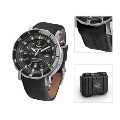 Vostok Europe Gent's Lunokhod 2 Automatic Watch with Interchangeable Strap and Dry Box