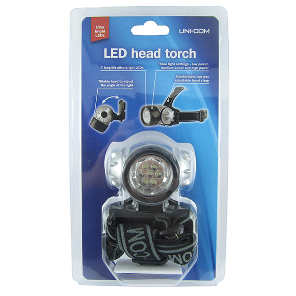 Uni-Com LED Head Torch No Colour