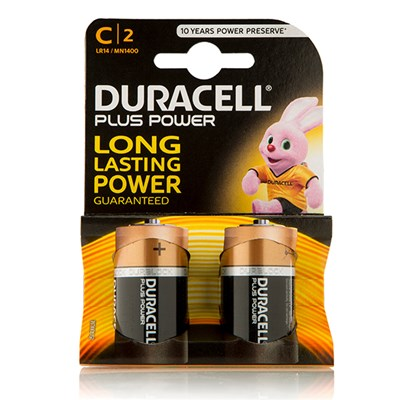 Duracell Plus Power C Cell (2 Pack)