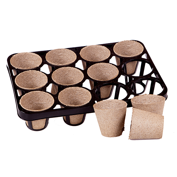Skelly Tray & Jiffy Bio Pots for 12 Plants No Colour