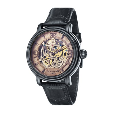 Thomas Earnshaw Gent's Longcase Skeleton Automatic ION Black Watch