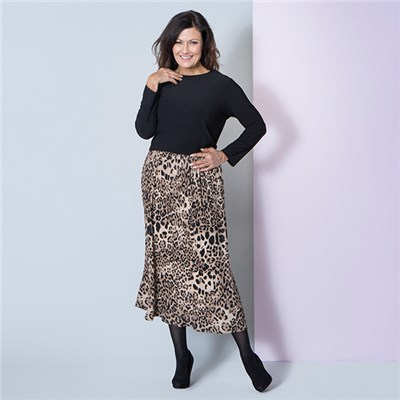 Nicole Print Pleat Skirt