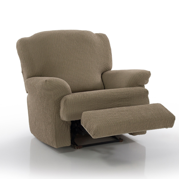 Two Way Bi Stretch Recliner Chair Cover Linen
