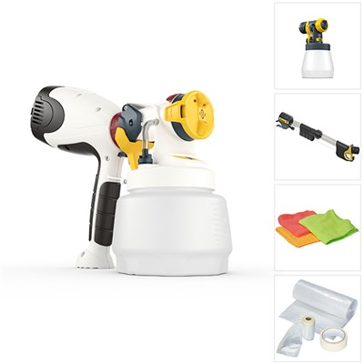 Wagner W400 with 1300ml & 800ml Attachment, Handle Extension, Universal Masking Kit & 3 Microfibre Cloths