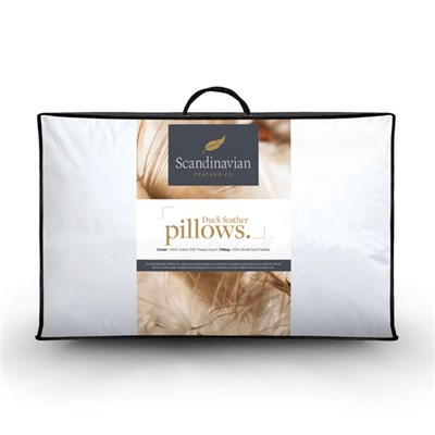 Scandinavian Feather Duck Feather Pillow (Pair)