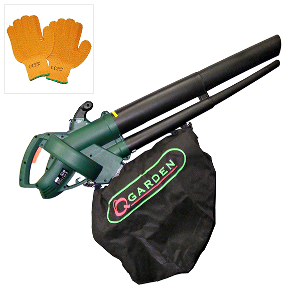 Q Garden V2500 Blow VAC with Safety Gloves No Colour