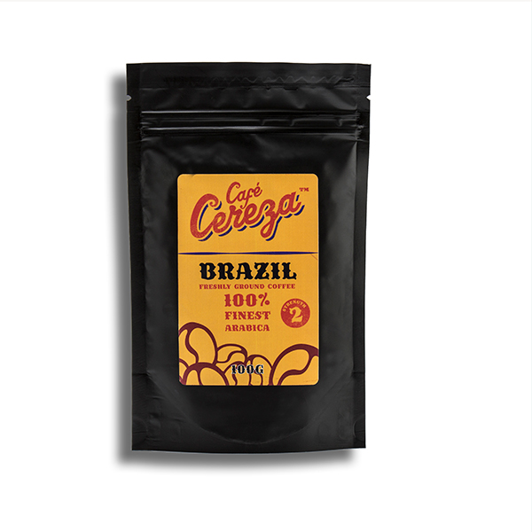 Cafe Cereza 100g Ground Coffee From Around the World Brazil