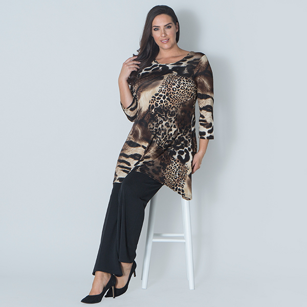 Nouvelle Abstract Animal Swing Top Abstract Leopard