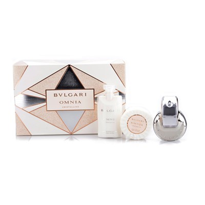 Bulgari Omnia Crystalline EDT 65ml, Body Lotion, Soap 75ml, & Bag
