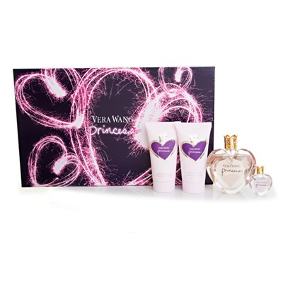 Vera Wang Princess EDT Spray 50ml, Body Lotion 75ml, Body Polish 75ml and Parfum 4ml