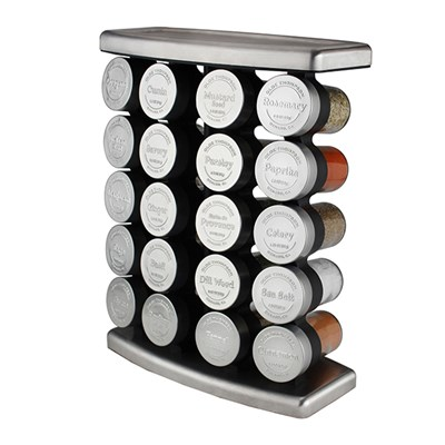 Olde Thompson 20 Jar Embossed Traditional Spice Rack
