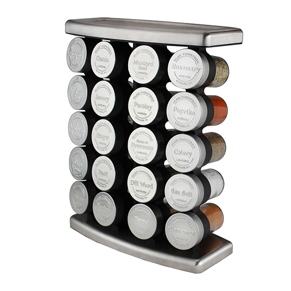 Olde Thompson 20 Jar Embossed Traditional Spice Rack No Colour