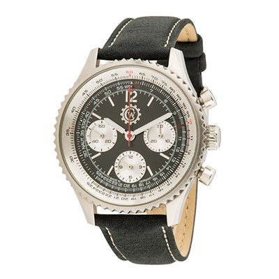 Constantin Weisz Gent's Automatic Chronograph Watch with Genuine Leather Strap and Luxury Display Box
