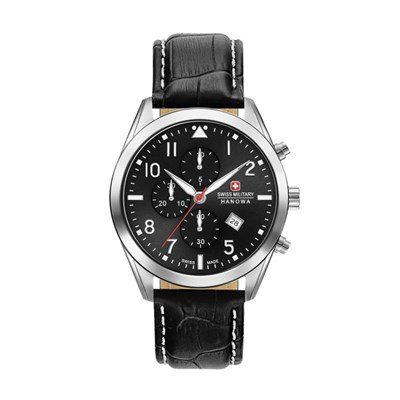 Swiss Military by Hanowa Gent's Helvetus Chronograph Watch with Genuine Leather Strap