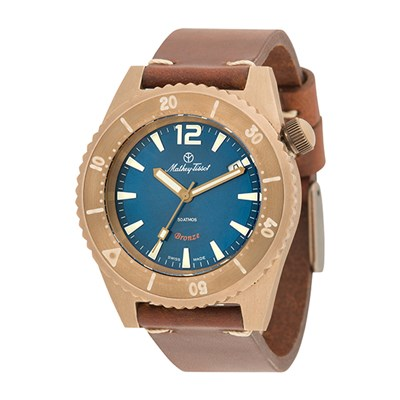 Mathey-Tissot Gent's Limited Edition Bronze Diver Watch with ETA 2824 Incabloc Movement, Genuine Leather Strap