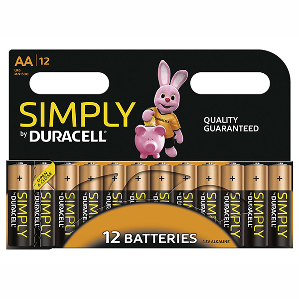 Duracell Simply AA 12 Pack No Colour