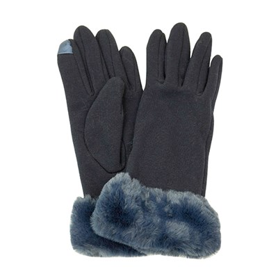 Faux Fur Trim Glove
