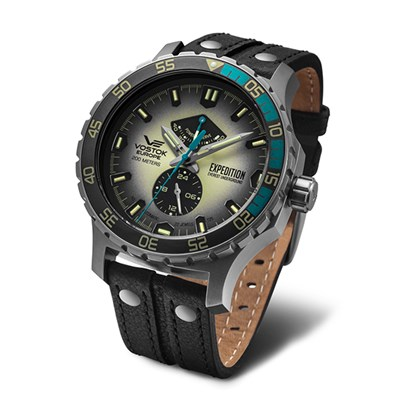Vostok Europe Gent's Expedition Everest Underground Matt Stainless Steel Automatic Watch with Interchangeable Straps, Dry Box & Pen