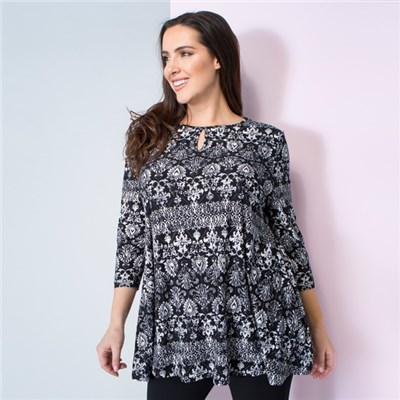 Emelia Soft Touch Key Hole Tunic