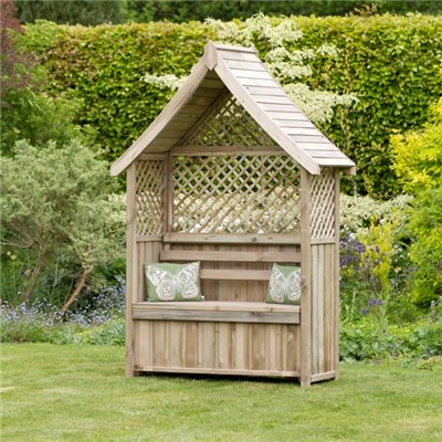 Norfolk Arbour with Storage Box