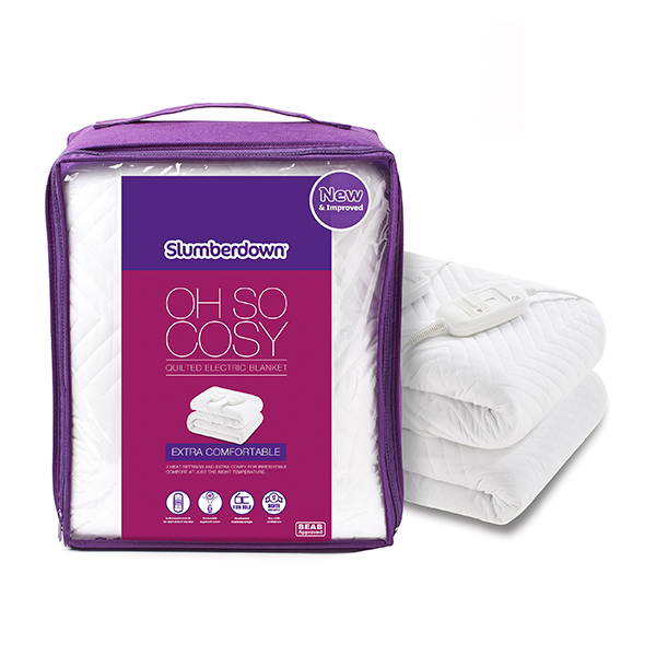 Slumberdown Oh So Cosy Quilted Electric Blanket (Double) No Colour