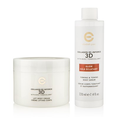 Elizabeth Grant Collagen Re-Inforce 3D Body Firming Cream 400ml with Body Glow 220ml