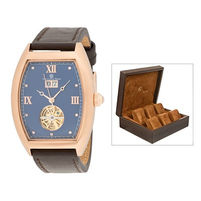 Constantin Weisz Gent's Limited Edition Automatic Watch with Genuine Leather Strap & 6 Slot Collector's Box