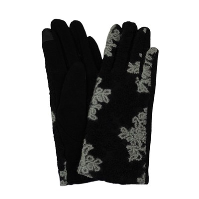 Floral Embroidered Gloves