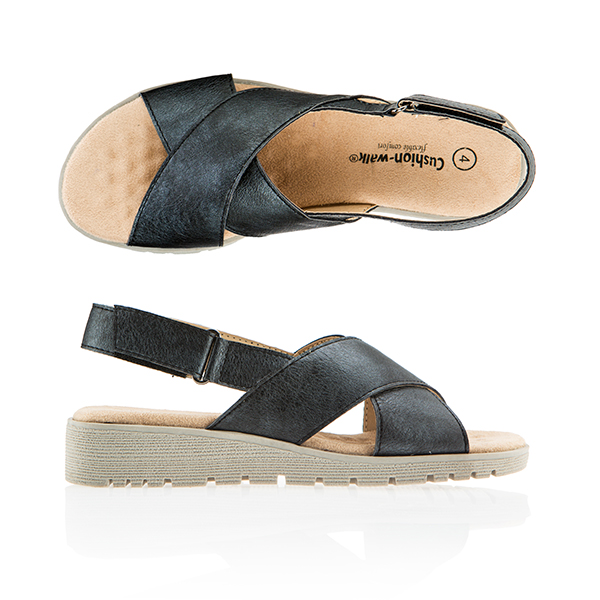 Cushion Walk Comfort Slider Sandal Black
