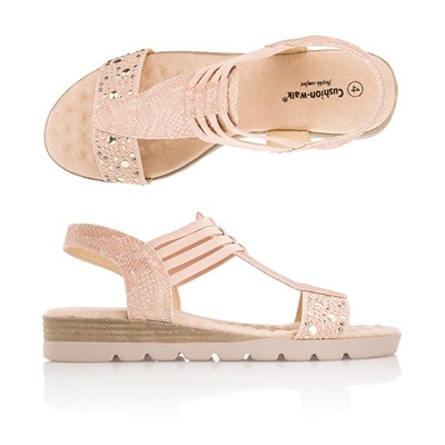 Cushion Walk Comfort T-Bar Embellished Sandal