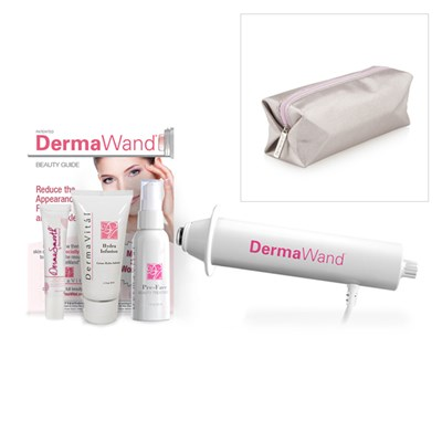 DermaWand Skin Care System with DermaSmooth 15ml and Derma Vital Pre-Face Treatment 59ml, Hydra Infusion 50ml and Travel Case