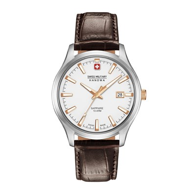 Swiss Military by Hanowa Gent's Major Watch with Genuine Leather Strap