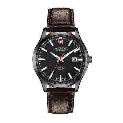 Swiss Military by Hanowa Gent's IP Plated Major Watch with Genuine Leather Strap