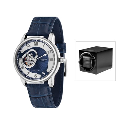 Thomas Earnshaw Gent's Longtitude Automatic Open Heart with Genuine Leather Strap & Watch Winder