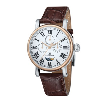 Thomas Earnshaw Gent's Maskelyne Watch with Genuine Leather Strap & Pen