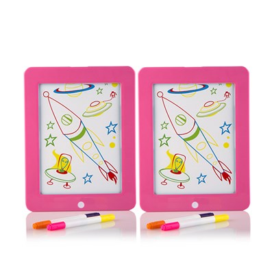 Glow Crazy Disco Drawing Board (Twin Pack)