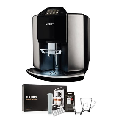 KRUPS Barista Automatic Espresso Bean to Cup Coffee Machine with KRUPS Starter Kit
