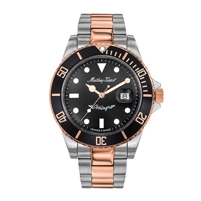 Mathey-Tissot Gent's Rolly Quartz with Two Tone Stainless Steel Bracelet