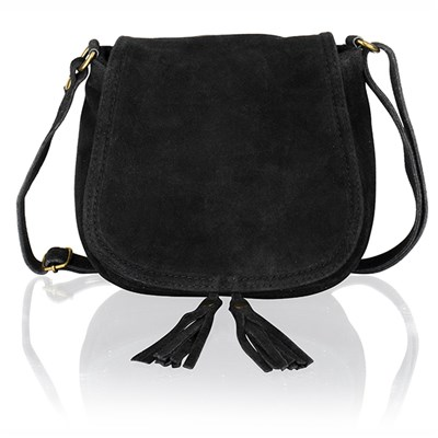 Woodland Leather Suede Saddle Bag