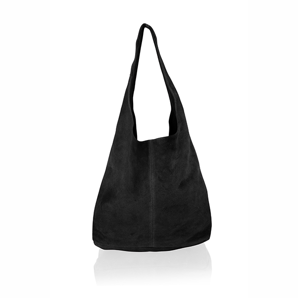 Woodland Leather Suede Tote Bag Black