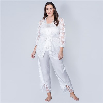 Nouvelle 3pc Satin Nightwear Set