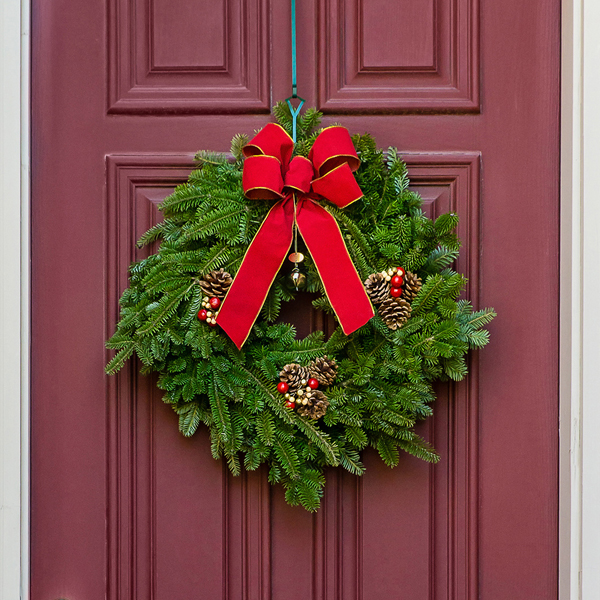 Image of 30cm 12inch Real Christmas Wreath